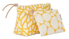 Yellow Delta Washbag and Stenar makeup purse from Gyllstad.com