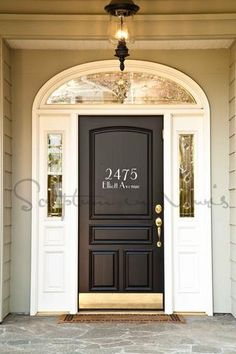 Address / House Number With Street Name Vinyl Wall Decal