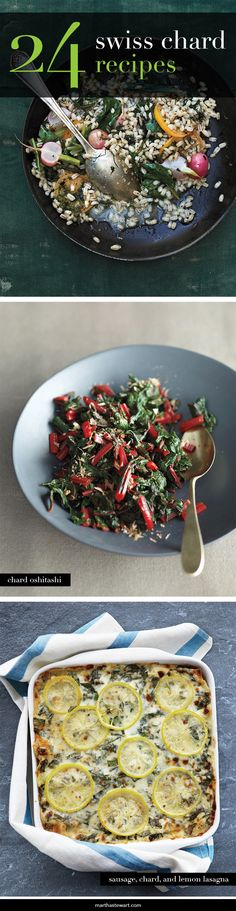 In the world of hearty greens, Swiss chard often gets overshadowed by its popular neighbor kale, but it's a superstar in its own right. This relative of the beet is a superb source of vitamins A, C, and K, as well as magnesium, potassium, and iron. It makes a colorful and tasty side dish, or a nutritious addition to pasta, soup, quiches, and more.