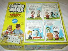 Mattel Snoopy Super Cartoon Maker Thingmaker in original box #Mattel