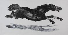Diane Victor, 4 Horses Baited, Etching, digital printing 105 x (Goodman Gallery) South African Art, Horse Sculpture, Human Art, Equine Art, Drawing Techniques, Art Google, Mixed Media Art, New Art, Printmaking