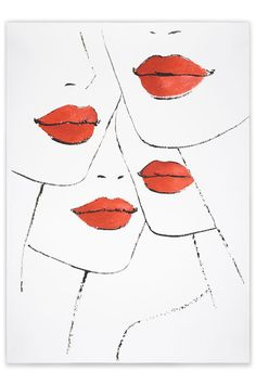 Jason Brooks' elegant illustration entitled Lipstick for Vogue's Art in Fashion (Vogue.com UK)