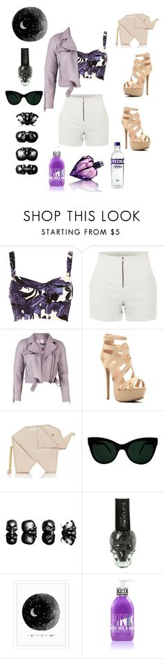 """""""Untitled #24"""" by lavish-jasmine ❤ liked on Polyvore featuring River Island, LE3NO, Kate Spade, KamaliKulture, Hot Topic and Diesel"""