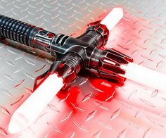 Designed for only a worthy master, the Relic V2 Cross Guard LED Light Saber by SaberForge is a force to be reckoned with.