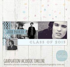 Facebook timeline Graduation photoshop by PaperLarkDesigns on Etsy