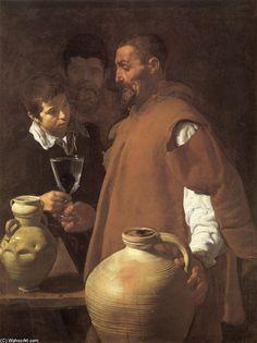 'Der Wasserverkäufer von Sevilla', öl auf leinwand von Diego Velazquez (1599-1660, Spain)