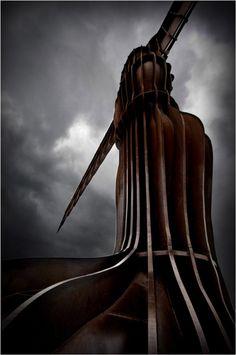 Newcastle England, Angel Of The North, Antony Gormley, Contemporary Sculpture, Pictures, Photos, Spirit, Fine Art, City