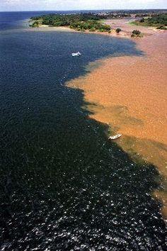 Encontro dos rios Amazonas e Tapajós