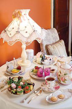 A pretty table setting at The Painted Tea Cup. The Painted Tea Cup is located in a beautiful circa-1900 Victorian house in Upper Darby, Pennsylvania.