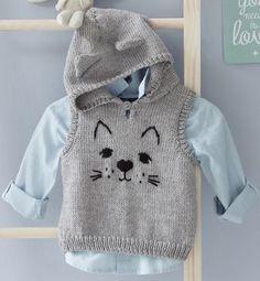 Modèle pull à capuche chat Lay |  Baby