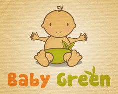 #logo #sale #logostore #readymade #baby #green #diaper Charlie Brown, Winnie The Pooh, Disney Characters, Fictional Characters, Branding, Logos, Green, Cute, Baby
