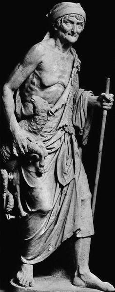Sculptures: The old Shepherdess, Hellenistic Art