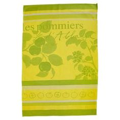 "Bring a touch of style and flair to your well-dressed kitchen with this eye-catching tea towel, perfect for drying your hands and wiping away spills.Product: Tea towelConstruction Material: CottonColor: Yellow and greenFeatures:  Oversized design can be used for drying hands or decorating your table Pattern is woven in Jacquard weave rather than printed Dimensions: 38"" x 25""Cleaning and Care: Wash by itself the first time, then with like colors"