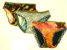 Fabulous Trio1 Multi Fabric Panties by SparrowAndAsh on Etsy, $12.00