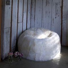Sheepskin Bean Bag from Rachel Ashwell Shabby Chic Couture