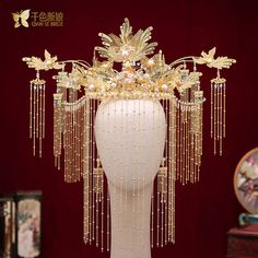 Fantasy Hair, Fantasy Jewelry, Old Fashion Dresses, Cute Couple Art, Magical Jewelry, Golden Jewelry, Chinese Clothing, Hair Ornaments, Hanfu