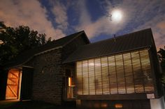 Moonlight above the Bartram barn Moonlight, Event Planning, Blinds, Barn, Garden Weddings, Home Decor, Converted Barn, Decoration Home, Room Decor