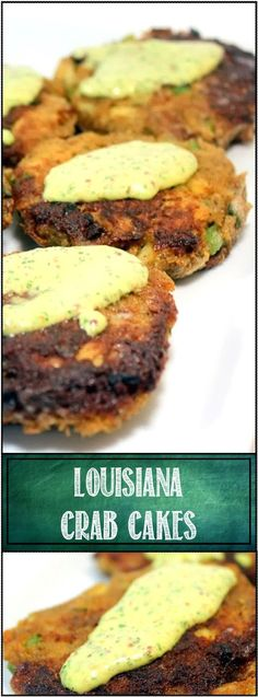 Louisiana Crab Cakes with New Orleans Remoulade Sauce... Lent season is coming so I am working on my Fish on Friday recipes! DELICIOUS OLD SCHOOL Crab Cakes with just a few touches of Louisiana! #seafoodrecipes