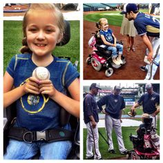 We are pleased to have @MDANational Ambassador Reagan Imhoff and her family here at #MillerPark tonight! #Brewers