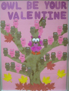 The cutest Valentine's Day bulletin board Made by one of our own EEP teachers! Valentines Day Bulletin Board, School Bulletin Boards, Early Education, Board Ideas, Owls, Bb, February, Classroom, Craft Ideas