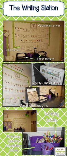 Mrs. Wills monthly writing stations - possibly get to add to Fine Motor for next year