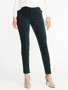 860fe042 Mid-Rise Pixie Long Velvet Pants for Women Jeans Dress, Women's Pants, Shop