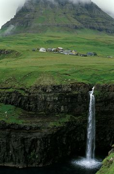Waterfall, Faroe Islands
