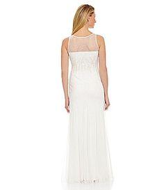 Adrianna Papell Sleeveless Beaded Gown #Dillards