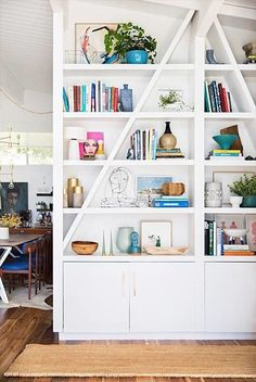 See more design inspiration on Domino and get book shelf arrangement ideas from Real Simple and coffee table ideas from Elle Decor.