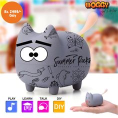 Mini Bluetooth Speaker Portable Cute Pet Wireless Speakers With DIY Lovely Expression Various Pose Pet Toy Teaching Tools, Teaching Kids, Kids Learning, Pet Toys, Baby Toys, Mini Bluetooth Speaker, Educational Toys For Kids, Thinking Outside The Box, Early Literacy