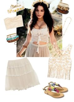 """Vanessa Hudgens boho"" by emma-plash ❤ liked on Polyvore"