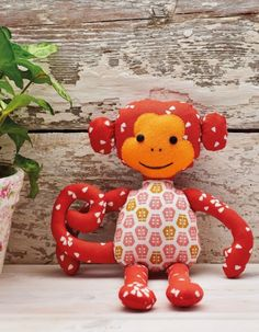 Stitch your kids an adorable soft monkey toy that will keep them entertained for hours. Your child will treasure their fabric friend!