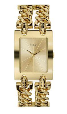 Modell W0311L2, eine extravagante Armband-Uhr. Ein sehr begehrtes Modell unter den Guess Uhren, das wir gerne für Sie gravieren.