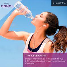 Ternyata minum air secara rutin bisa membantu mengurangi bau badan lho..Yuk, cek kebutuhan air bersih dirumah anda disini ... #OnMolID #Info #Fakta #Tips #kesehatan