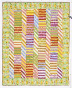 Sunshine Herring bone Stripes by Kaffe Fassett (c) Dave Tolson