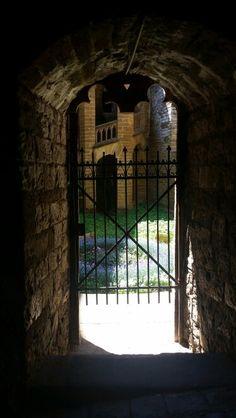 Garden gate on walk into the Hohenzollern castle.  June  2015