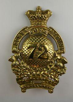 72nd Seaforth Highlanders feather bonnet regiment badge