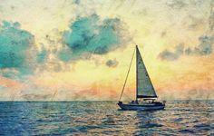 Navegando a lo largo lienzo de la lámina