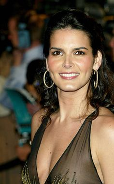 Angie Harmon during 2004 Vanity Fair Oscar Party Arrivals at Mortons in Beverly Hills California United States