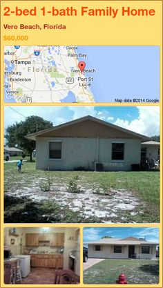 2-bed 1-bath Family Home in Vero Beach, Florida ►$60,000 #PropertyForSale #RealEstate #Florida http://florida-magic.com/properties/72409-family-home-for-sale-in-vero-beach-florida-with-2-bedroom-1-bathroom