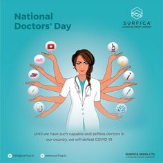 Until we have such capable and selfless doctors in our country, we will defeat COVID-19 Happy National Doctors' Day..! #Surfica #Surficalam #Laminates #laminate #laminatescollection #LaminatesDesign #BestLaminates #LuxuryLaminates #LaminateCollection #LaminateSheet #NationalDoctorsDay #NationalDoctorsDay2021 #ThankYouDoc #HeroesWhoHeal #WhiteCoat #CovidWarriors National Doctors Day, National Days, Group Of Companies, Doctor In, Our Country, Banner, Happy, Banner Stands, Ser Feliz