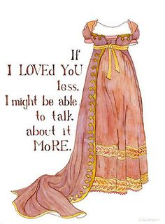 Original Artwork by Brigida Swanson from Yardia featuring Jane Austen quotes and Regency Fashion Emma Jane Austen, Jane Austen Quotes, Jane Austen Novels, Dress Illustration, Watercolor Illustration, Becoming Jane, Costume, Pride And Prejudice, I Love Books