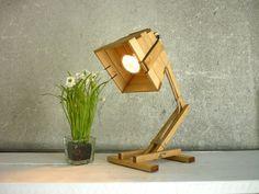 Kran IX oak  wooden desk table working night lighting by Paladim, $79.00