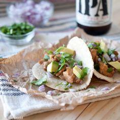 Beer Braised Chicken Tacos with  Beer Corn Tortillas