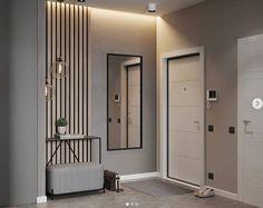 home decor ideas hallway Design Hall, Hall Interior Design, Contemporary Interior Design, Flat Design, Interior Design Living Room, Interior Architecture, Room Partition Designs, Hallway Designs, Small Apartment Design