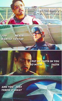 Tony and Steve - the betrayal.