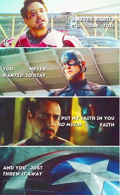 Tony and Steve - the betrayal.