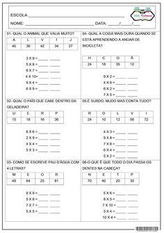 SOS PROFESSOR-ATIVIDADES: Desafio da multiplicação