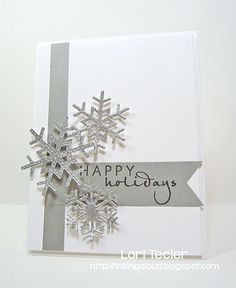 Happy Holidays card-designed by Lori Tecler/Inking Aloud-stamps from Verve Stamps