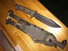 "Chris Reeve Green Beret 7"" S30V Blade Combat Fixed Blade Bill Harsey Chris Reeve Design"